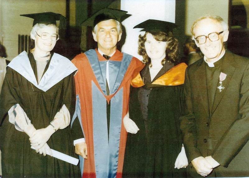 Mary Dynan graduates with Bob Hawke